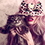 cat, girl, glamour, mask, sexy