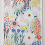 Grey Floral Dishtowel