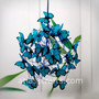"Lamp with turquoise butterflies ""Feeling Blue"""