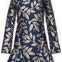Pre-Fall2014 Macro Flower Jacquard Long Sleeve Tunic