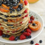 Honey Maca Pancake Tower with Yogurt Cream