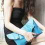 Ruffle/Pleated Clutch Bag by Vicki