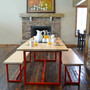 Dining Table Set - Fire House Red Frame