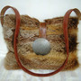 red fox fur bag