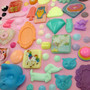 Huge LOT resin pieces handmade cabochons 50-60 pieces per lot