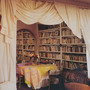 Loulou de la Falaise's dining room-library