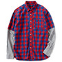 FAKE LAYERED CHECK SHIRT (RED)