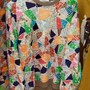 CARVEN MOLLETON PRINT TERRAZZO SWEAT MULTICOLOR 2014SS