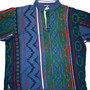 Vintage Chaps Ralph Lauren Navajo Print Polo Shirt Mens Size Medium
