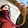 peanut butter and jelly twin beard - face neck warmer