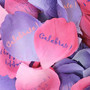 Pink &amp; Purple Rose Confetti