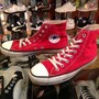 "「<used>1990s converse ALLSTAR HI  red""made in USA"" size:US7(25.5cm) 6800yen」完売"