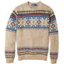 Beige Snow Pattern Cotton Knit