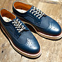 ALFRED BROGUE SHOE NAVY