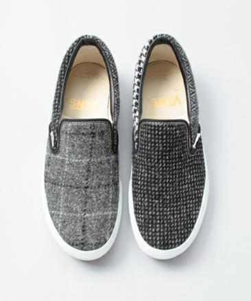 BEAUTY&YOUTH × HARRIS TWEED × VANS SLIP-ON