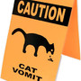 caution cat vomit