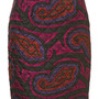 **Quilted Paisley Silk Skirt by J.W. Anderson for Topshop