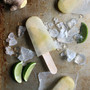 Lemon lime ginger ice pops