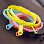 279 Rainbow colors zipper bracelet (one pcs random color price)