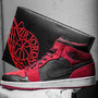 Air Jordan 1 Mid - Red Sued/Black