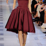 Strapless Silkfaille Dress in Burgundy