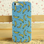Blue Yellow Banana Print Phone Shell Case for iphone5/5S/4/4S