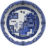 dinnerware based on The Willow Pattern.