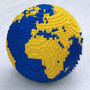 Lego™ globe designed with Flexify