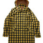 TARTAN PLAID BAL COLLAR COAT