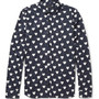 Slim-Fit Heart-Print Cotton-Poplin Shirt