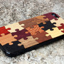 Puzzle iPhone 5 Real Wood Skin (Front &amp; Back Cover) Made in the USA - FREE Shipping