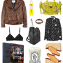 3.1 Phillip Lim jacket, Rodin Olio Lusso, 3.1 Phillip Lim Pashli bag, RP Encore rings, Sonia by Sonia Rykiel silk shirt, The Row leather backpack, Céline clogs, Diptyque Tubereuse candle, Irreverent by Carine Roitfeld, 3.1 Phillip Lim bralette
