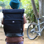 rolltop day backpack (black)