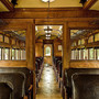Vintage train interior