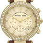 Michael Kors Midsize Parker Chronograph Glitz Watch, Golden in Gold (golden)