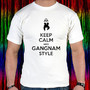 New Keep Calm And Gangnam Style Psy White Short Men T-shirt Tee