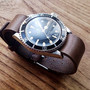 Horween Leather Belt (Chrome Excel Leather) rolex NATO belt