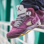 AIR JORDAN 5 CUSTOM BY MAGGI (VIOLET)