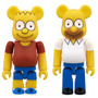 BE@RBRICK THE SIMPSONS BART SIMPSON/HOMER SIMPSON