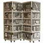 "Four Panel ""Library"" Trompe L'Oeil Folding Screen  Italy 1970's"