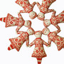 Redwork Doll Cross Stitch Scandinavian Christmas Ornament