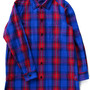 Original Plaid Long Shirt Coat  (red check)