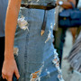 Trash pencil denim skirt