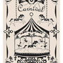 Large 13 X 19 / Poster / Merry - Go - Round Print / Black