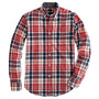 SLIM TARTAN SHIRT IN CHILI POWDER