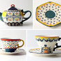 Anthropologie Folk Art tea set