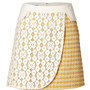 Mixed-Media Skirt in Yellow