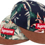 Floral Suede Camp Cap