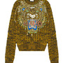 TIGER EMBROIDERY WOOL SWEATER