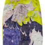 Folded printed silk-organza skirt